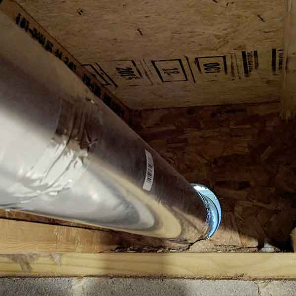 improper duct install
